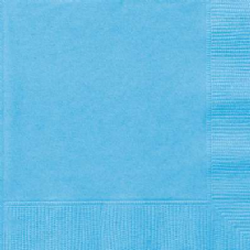 20 Powder Blue Paper Party Beverage Napkins